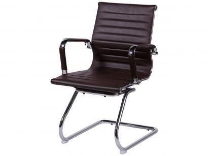 Cadeira Cromada para Escritório Giratória - OR Design Eames Baixa