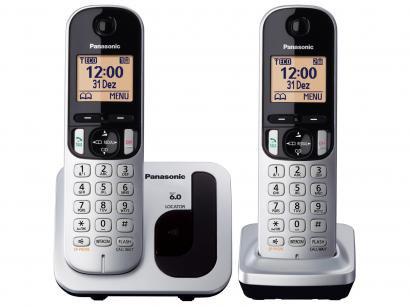 Telefone Sem Fio Panasonic KX-TGC212LB1 + 1 Ramal - Identificador de Chamada...