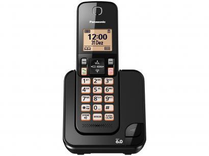 Telefone Sem Fio Panasonic KX-TGC350LBB - Identificador de Chamada Viva Voz...
