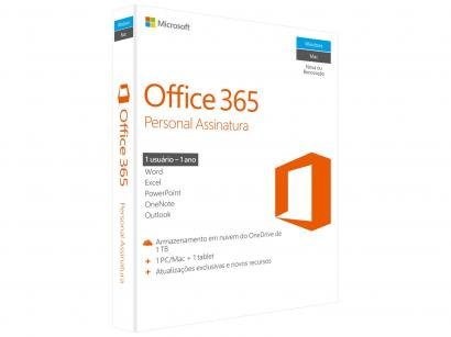 Microsoft Office 365 Personal - 1TB de Armazenamento Válidos por 1 Ano