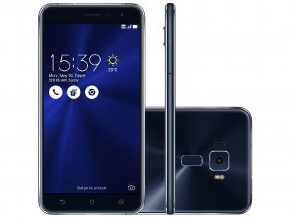 Smartphone Asus ZenFone 3 64GB Preto Safira - Dual Chip 4G Câm. 16MP + Selfie...