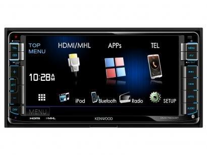 "Central Multimídia Kenwood DMX750WBT LCD 6,95"" - USB Bluetooth Auxiliar"