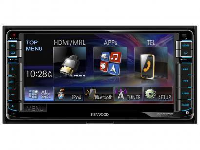 """Central Multimídia Kenwood DDX715WBT LCD 6,95"""" - USB Bluetooth Auxiliar"""