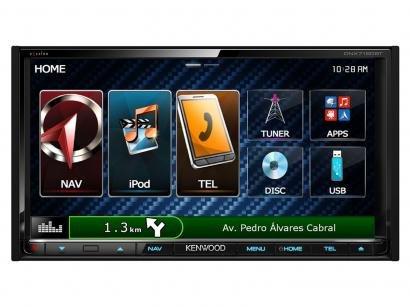 "Central Multimídia Kenwood DNX7150BT LCD 6,95"" - Entrada para Câmera de Ré USB..."