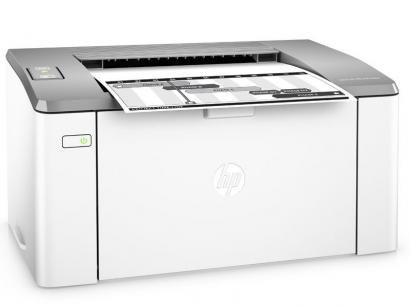 Impressora HP LaserJet Ultra M106w - Monocromática LED Wi-Fi USB