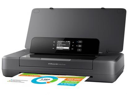 Impressora HP OfficeJet Mobile 200 Jato de Tinta - Colorida Wi-Fi USB