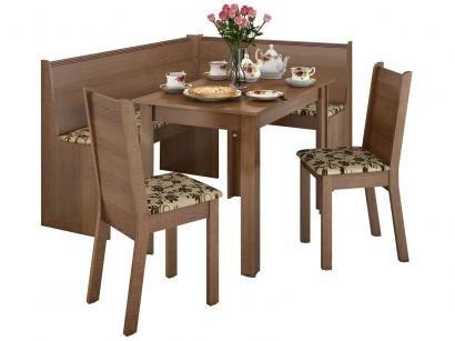 Conjunto de Mesa MDP 2 Cadeiras e 1 Banco de Canto - Canto Alemão Liebe