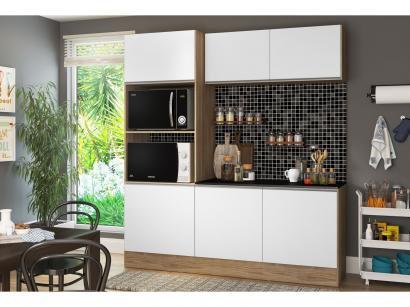 Cozinha Compacta com Balcão Multimóveis Linea - Nicho para Forno Micro-ondas 6...