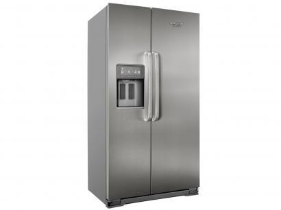 Geladeira/Refrigerador Brastemp Inox Side by Side - 539L c/ Dispenser de Água...