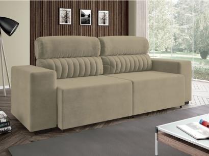 Sofá Retrátil e Reclinável 4 Lugares Suede - Elite Style - Linoforte