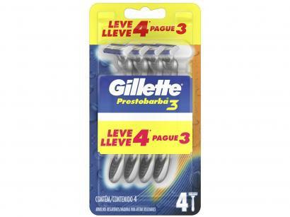 Gillette Prestobarba 3 - Aparelho de Barbear 4 Unidades
