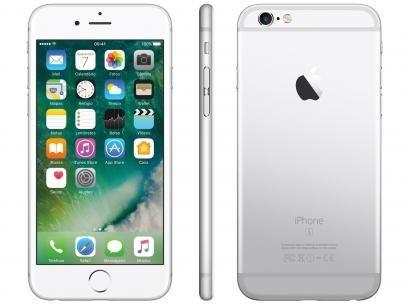 "iPhone 6s Apple 32GB Prata 4G Tela 4.7"" - Retina Câm. 12MP + Selfie 5MP iOS 10..."
