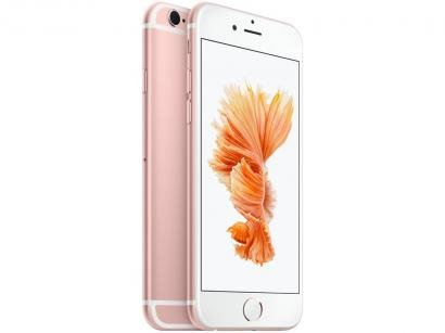 "iPhone 6s Apple 32GB Ouro Rosa 4G Tela 4.7"" - Retina Câm. 12MP + Selfie 5MP iOS..."