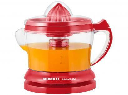 Espremedor de Frutas Mondial Red Premium E-23 - 30W 1,25L Vermelho