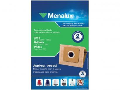 Kit com 3 Sacos Descartáveis para Aspirador - Menalux SIM02
