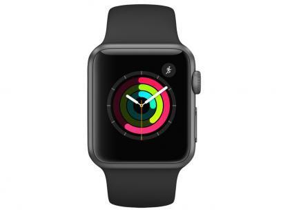 Apple Watch Series 1 38mm Alumínio 8GB - Esportiva Preta
