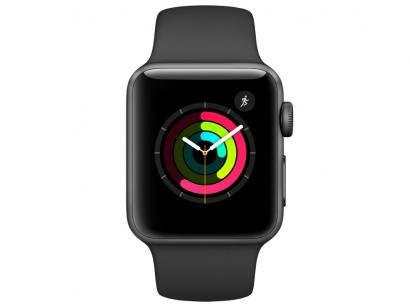 Apple Watch Series 2 38mm Alumínio 8GB Esportiva - Preta GPS Integrado...