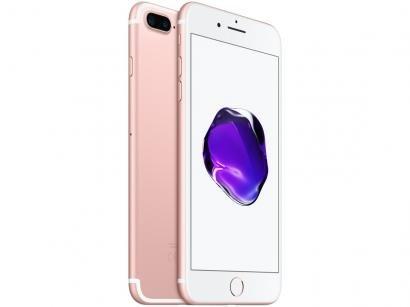 "iPhone 7 Plus Apple 128GB Ouro Rosa 4G Tela 5.5"" - Retina Câm. 12MP + Selfie..."