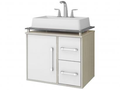 Gabinete para Banheiro 1 Porta 2 Gavetas Cerocha - Centauri 60