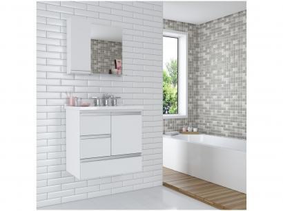 Gabinete para Banheiro 1 Porta 3 Gavetas Cerocha - Dubhe 60