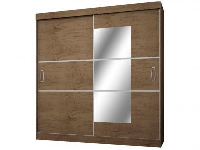 Guarda-roupa Casal com Espelho 2 Portas de Correr - 4 Gavetas Araplac Atraente...