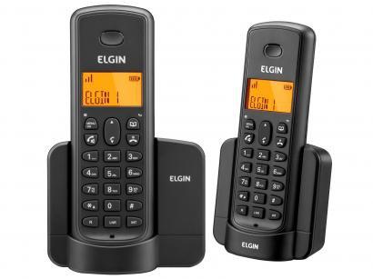 Telefone Sem Fio Elgin TSF8002 + 1 Ramal - Identificador de Chamada Viva Voz...