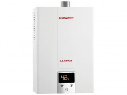 Aquecedor de Água à Gás Lorenzetti Eletrônico - Digital LZ 2000DE GLP Vazão...