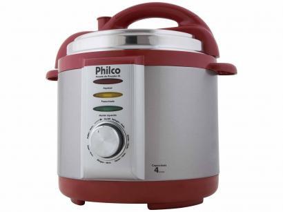 Panela de Pressão Elétrica Philco 56401035 - 800W 4L Timer Controle de...