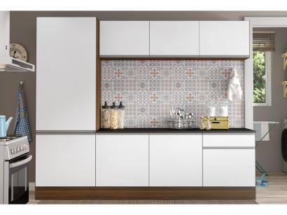 Cozinha Compacta Multimóveis Línea - com Balcão 8 Portas 1 Gaveta