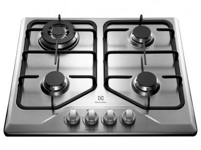 Cooktop 4 Bocas Electrolux GT60X Inox - à Gás Natural e GLP Tripla-Chama