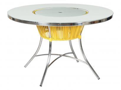 Mesa para Jardim/Area Externa Alumínio - Tampo Removível Alegro Móveis Slim