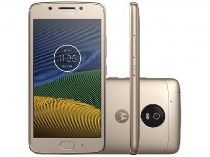 Smartphone Motorola Moto G5 32GB Ouro Dual Chip 4G - Câm. 13MP + Selfie 5MP...