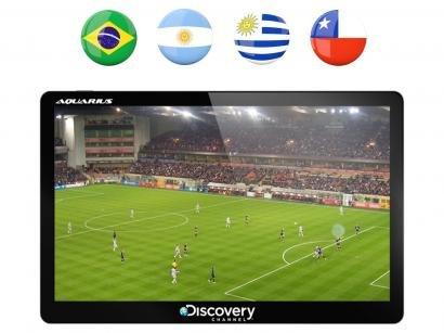 "GPS Automotivo Aquarius Discovery Channel Slim - Tela 5"" Touch TV Digital Mapas..."