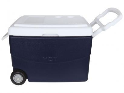 Caixa Térmica Mor 70L com Rodas - Glacial Azul