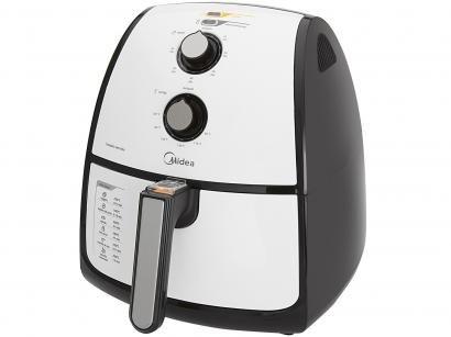 Fritadeira Elétrica Sem Óleo/Air Fryer Midea - Liva Branca e Preta 4L com Timer