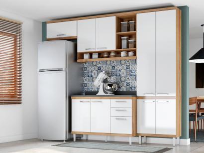 Cozinha Compacta Multimóveis Linea Sicília - com Balcão 9 Portas 3 Gavetas