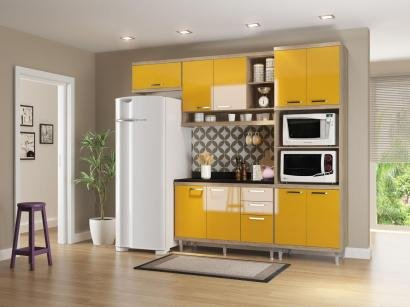 Cozinha Compacta Multimóveis Linea Sicília - com Balcão Nicho para Forno ou...