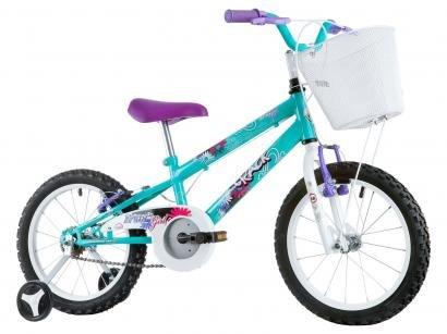 Bicicleta Infantil Aro 16 Track & Bikes Track Girl - Azul e Branco com...