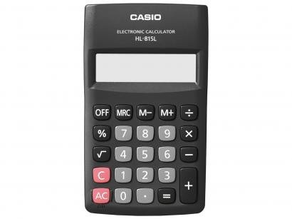 7a05927ddf4c Calculadora de Bolso Casio 8 Dígitos - HL-815L Preta