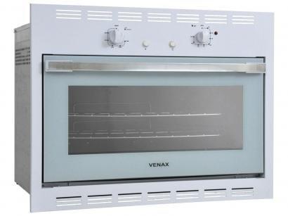 Forno de Embutir a Gás Natural Venax Bianco GII - 18319 90L Grill Timer