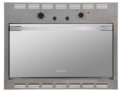 Forno de Embutir a Gás GLP Venax Cristallo GII - 18330 Inox 90L Grill Timer
