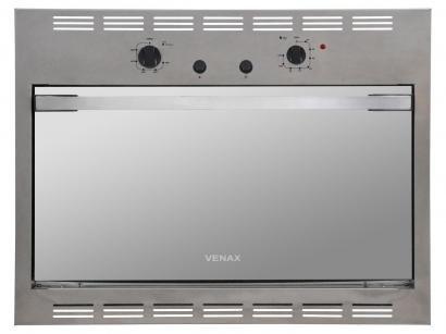 Forno de Embutir a Gás Natural Venax Cristallo GII - 18329 Inox 90L Grill Timer