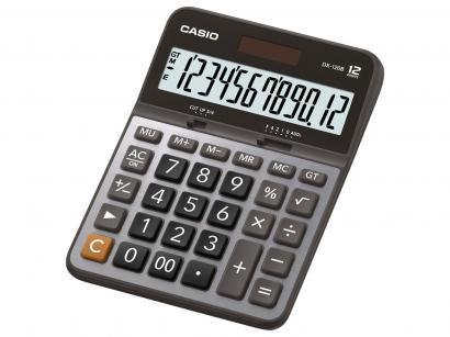 Calculadora de Mesa Casio 12 Dígitos - DX-120B Prata e Preta