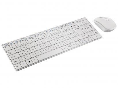 Kit Teclado e Mouse Sem Fio - Multilaser Slim