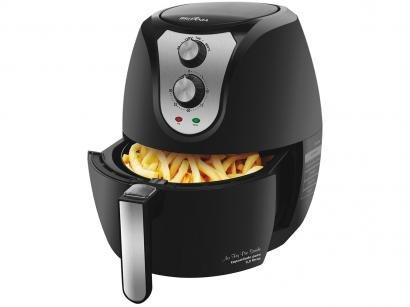 Fritadeira Elétrica Sem Óleo/Air Fryer Britânia - Air Fry Pro Saúde Preta 4,4L com Timer