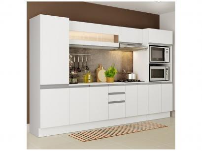 Cozinha Compacta Madesa Smart G200740909 - com Balcão 14 Portas 2 Gavetas 100%...