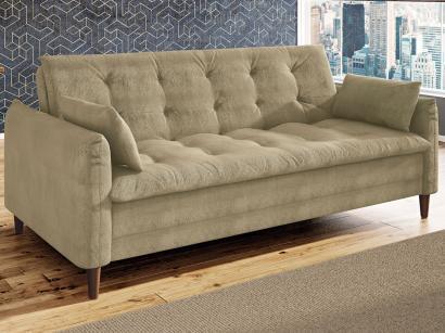 Sofá-cama Suede Reclinável Linoforte - Estela A2