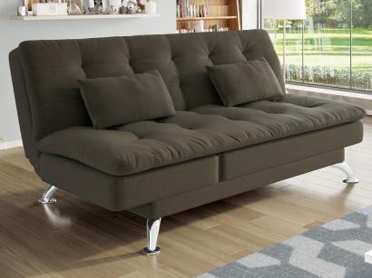 Sofá-cama Suede Reclinável Linoforte - Jade A2