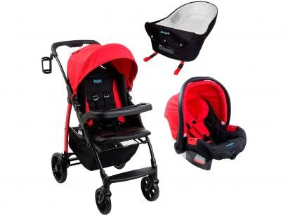 Carrinho de Bebê Passeio Burigotto Travel System - Pramette Reclinável com Bebê...
