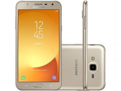 Smartphone Samsung Galaxy J7 Neo 16GB Dourado - Dual Chip 4G Câm 13MP + Selfie...